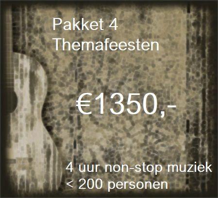 Pakket 4: Livemuziek, dj en decoratie voor 4 uur non-stop feest met zanger/gitarist Stephan Barneveld & DJ - tot 200 personen - muziek en feest voor bedrijfsfeesten, personeelsfeesten, themafeesten, bruiloften, verjaardagsfeesten, jubileumfeesten of gewoon feest - Kies uit één van de thema's - Oktoberfest, Flower Power Party, Fout Feest - Apès Ski party - Heel Holland Feest - Back to the 80's & 90's of een van onze andere feestelijke thema's